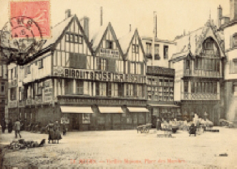 Maison Fossier, Place des March�s � Reims vers 1880